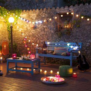 iluminación en terrazas