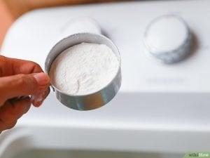 bicarbonato y ropa blanca