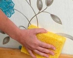 limpiar con esponja